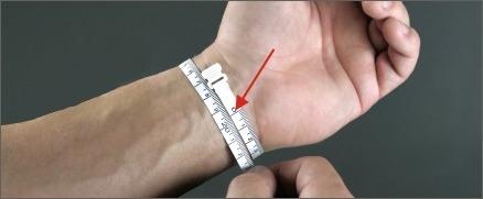 Sådan måler du dit håndled