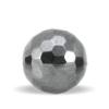 Hæmatit sten perle facettet 10 mm.