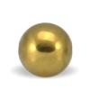 Hæmatit guld sten i rund 10 mm