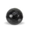 Facettet onyks sten i sort med128 facetter