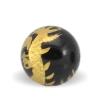 Agat sten 10mm med gul dragon
