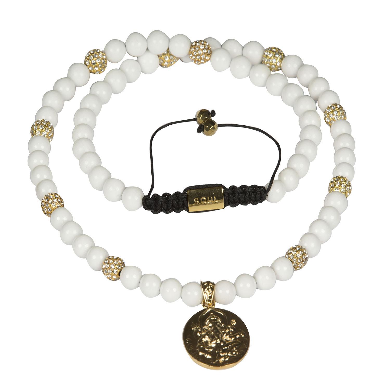 Ganesha halskæde - White
