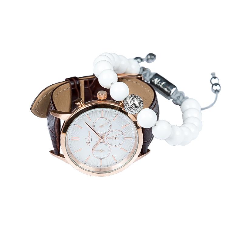 Exclusive White Ur + Ixion armbånd