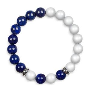 Classic Blå og Hvid Armbånd til kvinder