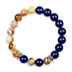 Classic Blå og Jaspis Armbånd til kvinder