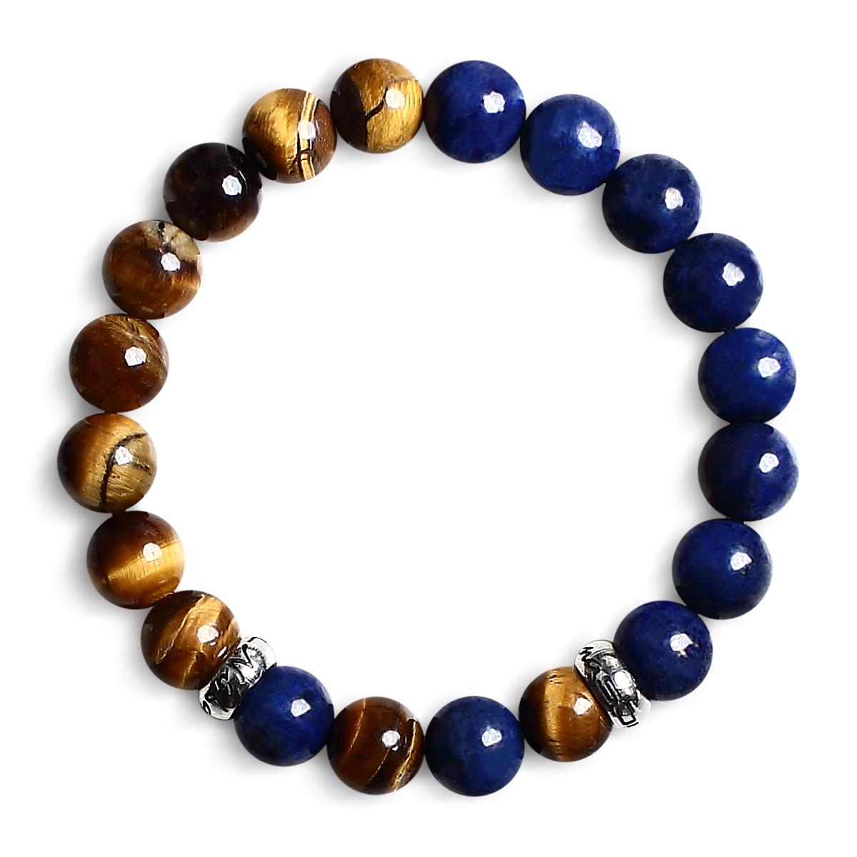 Classic Blå og Tigereye Armbånd til kvinder